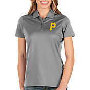 Antigua Women's Pittsburgh Pirates Grey Balance Polo