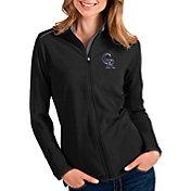 Antigua Women's Colorado Rockies Black Glacier Full-Zip Jacket
