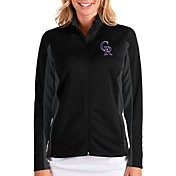 Antigua Women's Colorado Rockies Black Passage Full-Zip Jacket