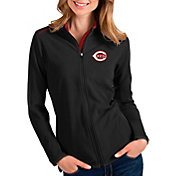 Antigua Women's Cincinnati Reds Black Glacier Full-Zip Jacket