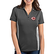 Antigua Women's Cincinnati Reds Venture Grey Performance Polo