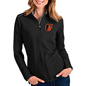 Antigua Women's Baltimore Orioles Black Glacier Full-Zip Jacket