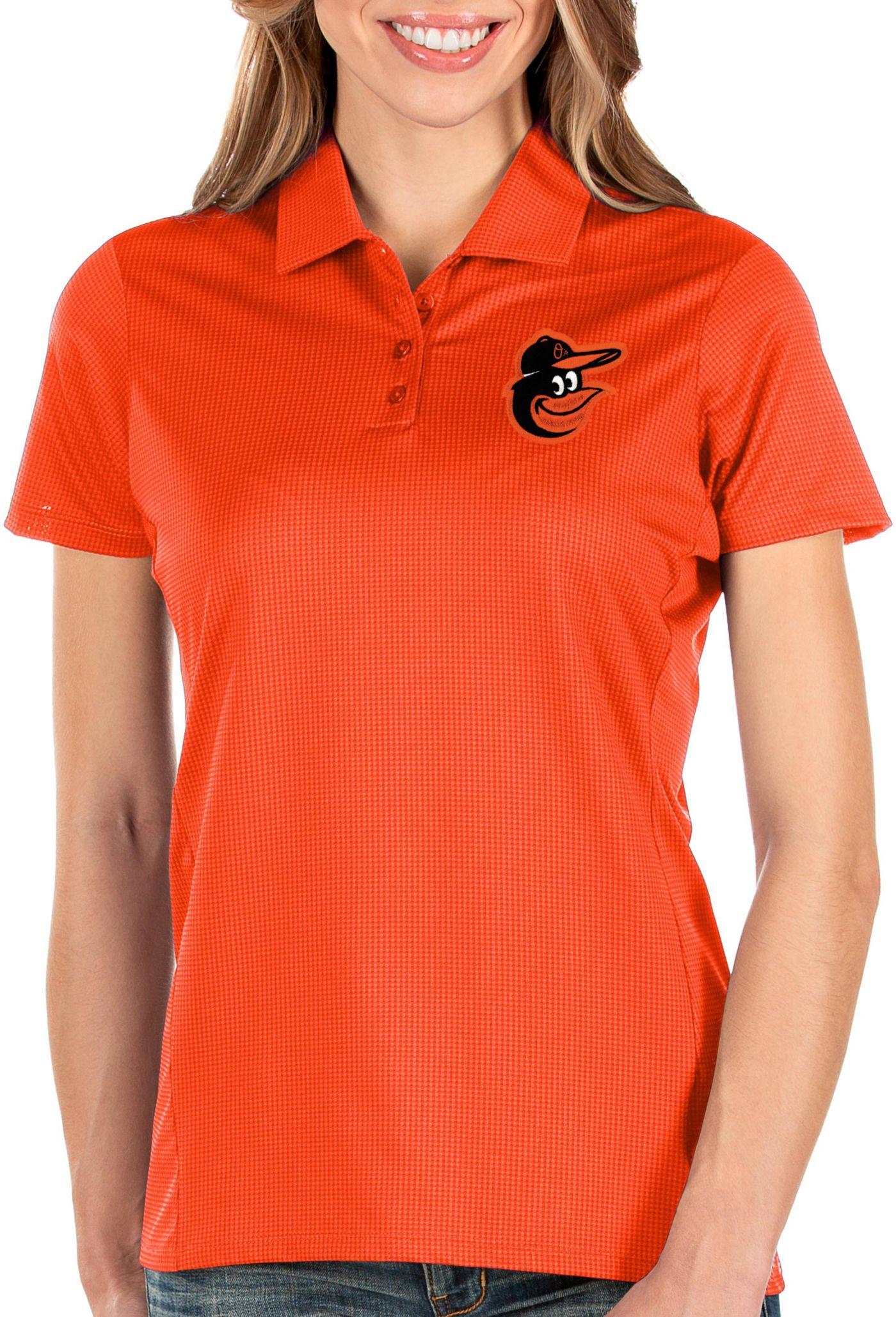 Antigua Women's Baltimore Orioles Orange Balance Polo