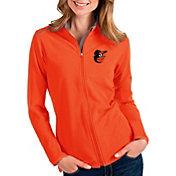 Antigua Women's Baltimore Orioles Orange Glacier Full-Zip Jacket