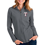 Antigua Women's Texas Rangers Grey Glacier Full-Zip Jacket