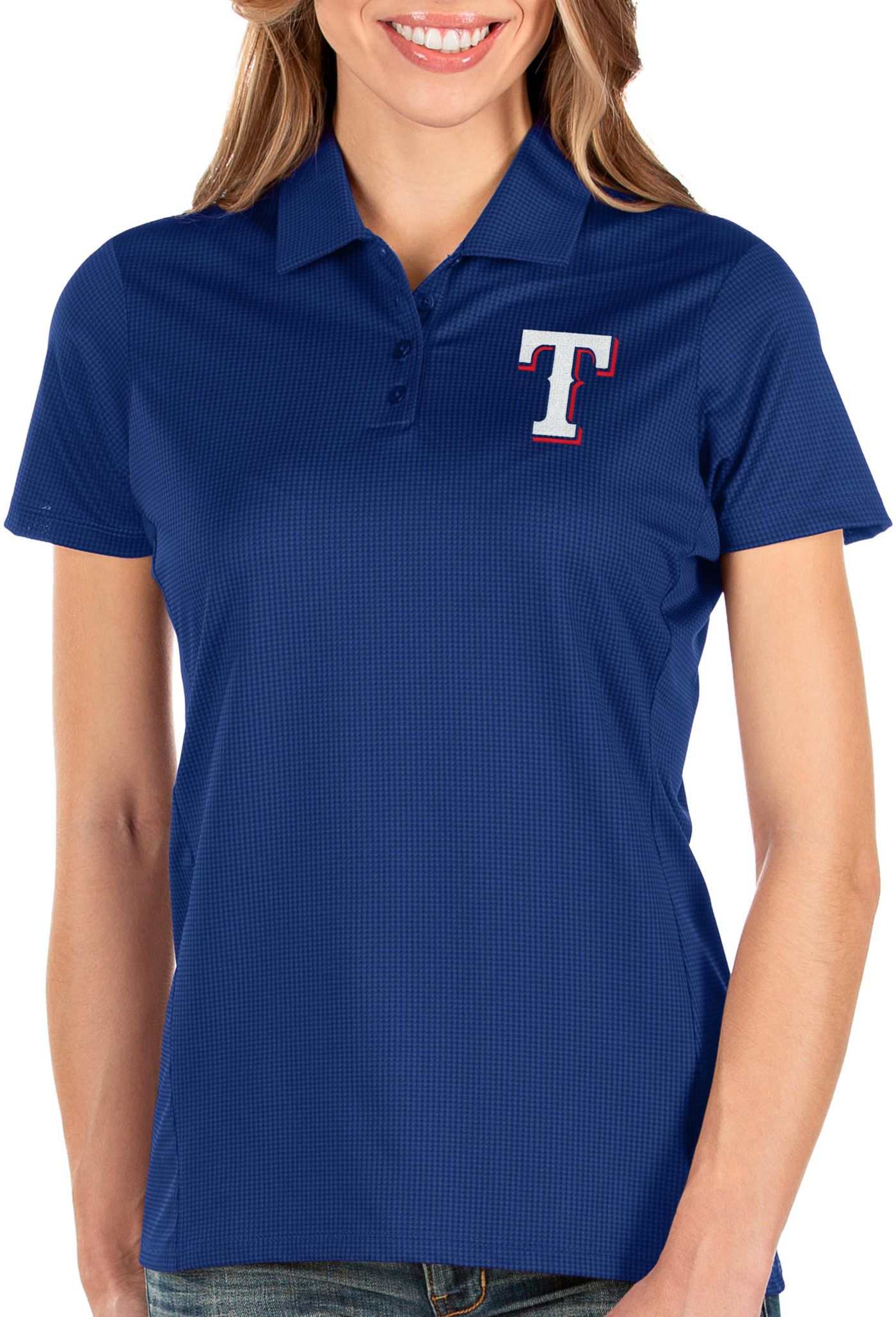 Antigua Women's Texas Rangers Royal Balance Polo