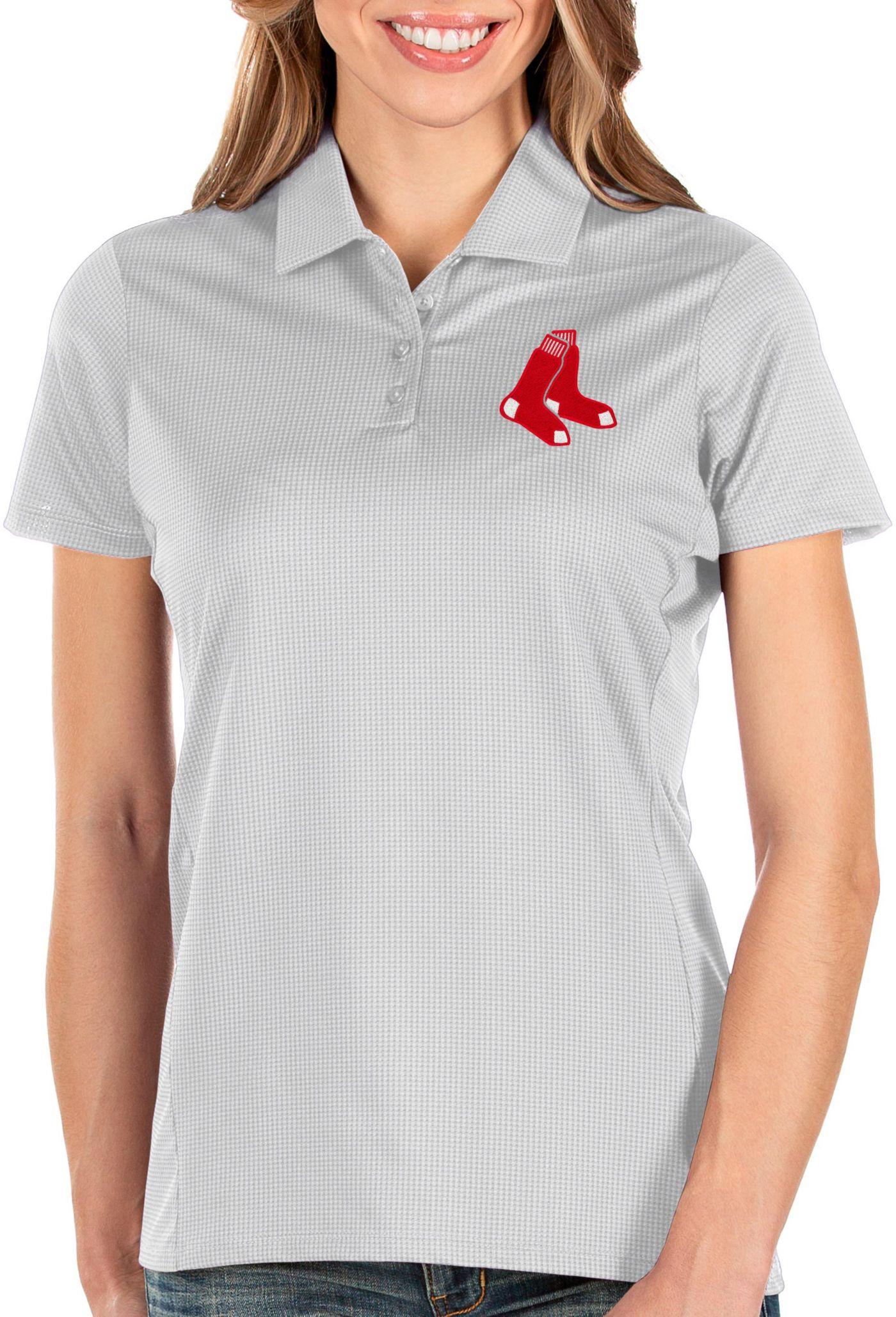 Antigua Women's Boston Red Sox White Balance Polo