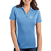 ad2e1634a49a Product Image · Antigua Women s Kansas City Royals Venture Light Blue  Performance Polo