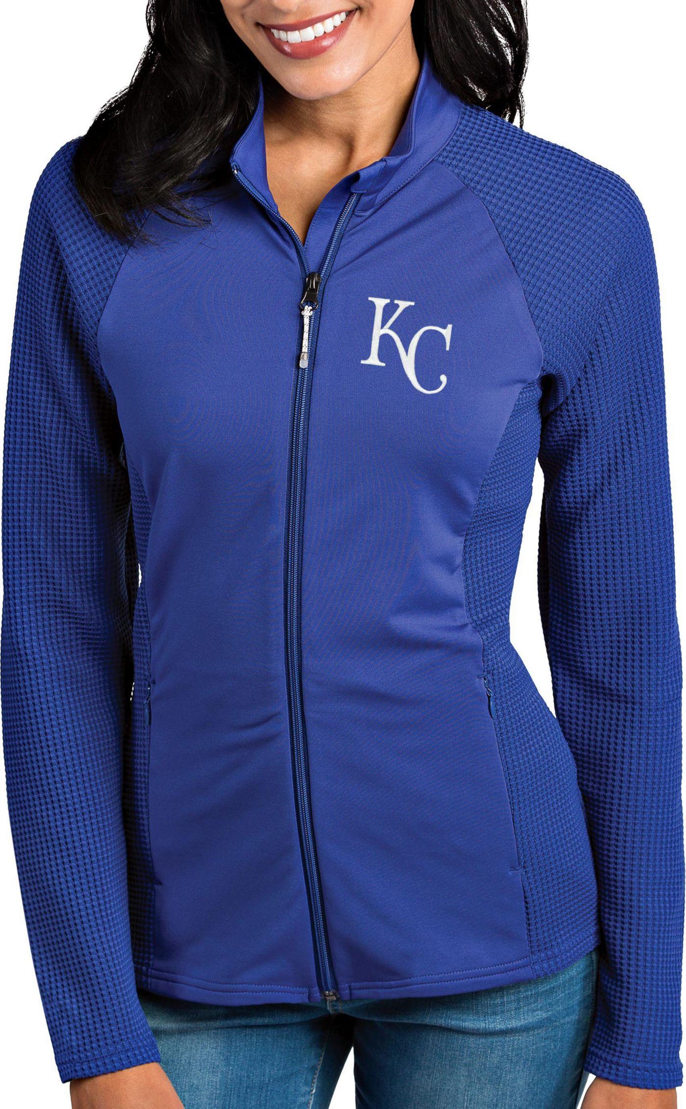 Antigua Women's Kansas City Royals Royal Sonar Performance Quarter-Zip Pullover