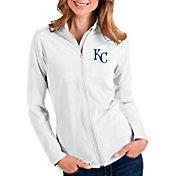 Antigua Women's Kansas City Royals White Glacier Full-Zip Jacket