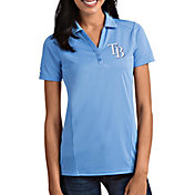 Antigua Women's Tampa Bay Rays Tribute Light Blue Performance Polo