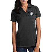 Antigua Women's Tampa Bay Rays Tribute Grey Performance Polo