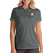 Antigua Women's Houston Astros Salute Grey Performance Polo
