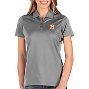 Antigua Women's Houston Astros Grey Balance Polo