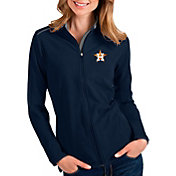 Antigua Women's Houston Astros Navy Glacier Full-Zip Jacket