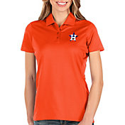 Antigua Women's Houston Astros Orange Balance Polo