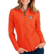 Antigua Women's Houston Astros Orange Glacier Full-Zip Jacket