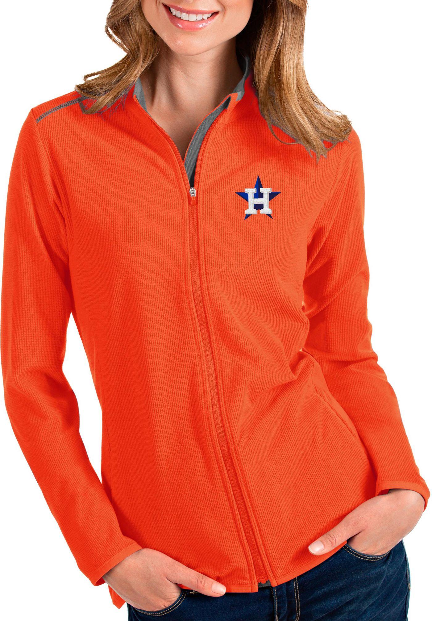 Antigua Women's Houston Astros Orange Glacier Full-Zip Jacket