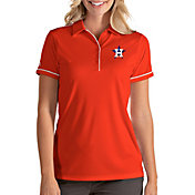 Antigua Women's Houston Astros Salute Orange Performance Polo
