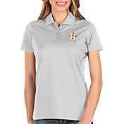 Antigua Women's Houston Astros White Balance Polo