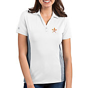 Antigua Women's Houston Astros Venture White Performance Polo