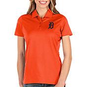 Antigua Women's Detroit Tigers Orange Balance Polo