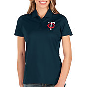 Antigua Women's Minnesota Twins Navy Balance Polo