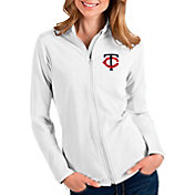 Antigua Women's Minnesota Twins White Glacier Full-Zip Jacket