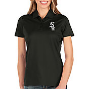 Antigua Women's Chicago White Sox Black Balance Polo