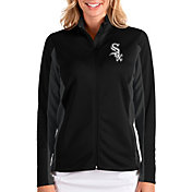 Antigua Women's Chicago White Sox Black Passage Full-Zip Jacket