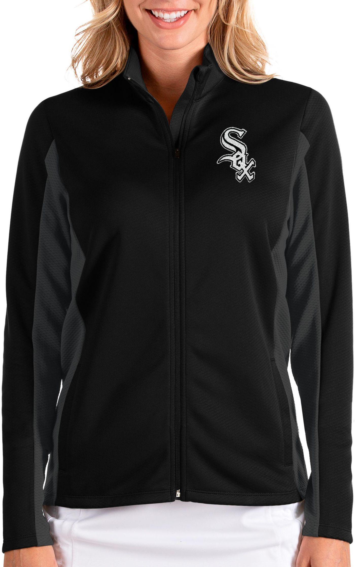 Antigua Women's Chicago White Sox Black Passage Full-Zip Jacket