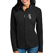 Antigua Women's Chicago White Sox Black Sonar Performance Quarter-Zip Pullover