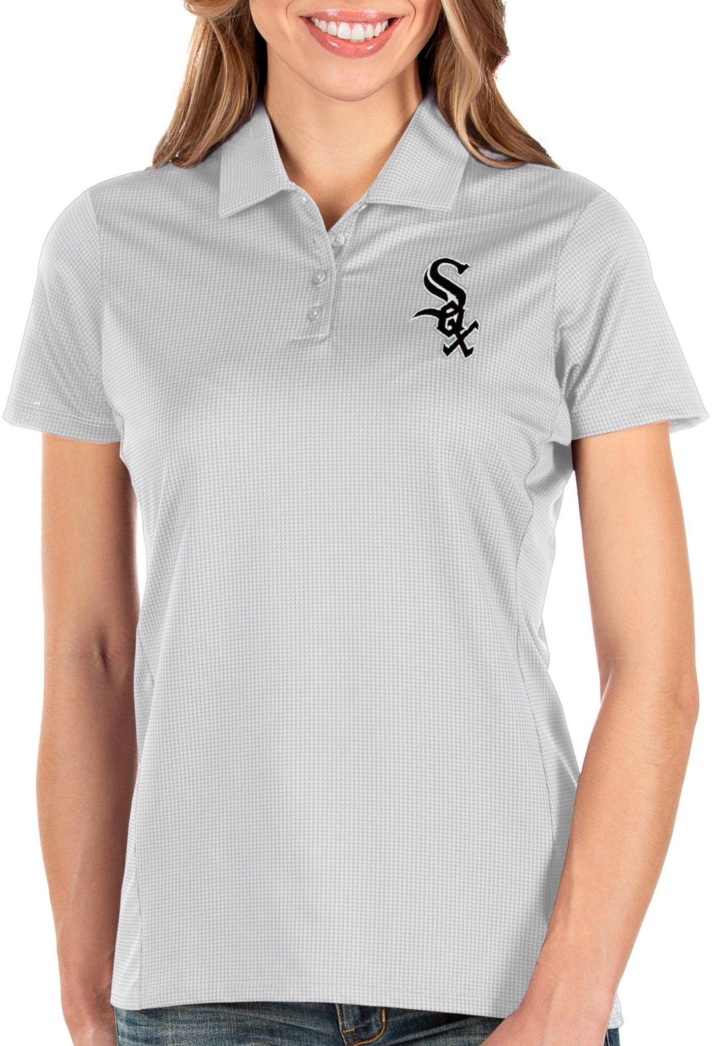 Antigua Women's Chicago White Sox White Balance Polo