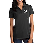 Antigua Women's New York Yankees Tribute Grey Performance Polo