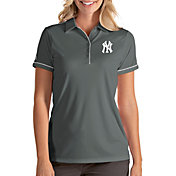 Antigua Women's New York Yankees Salute Grey Performance Polo