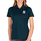 Antigua Women's New York Yankees Navy Balance Polo