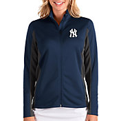 Antigua Women's New York Yankees Navy Passage Full-Zip Jacket