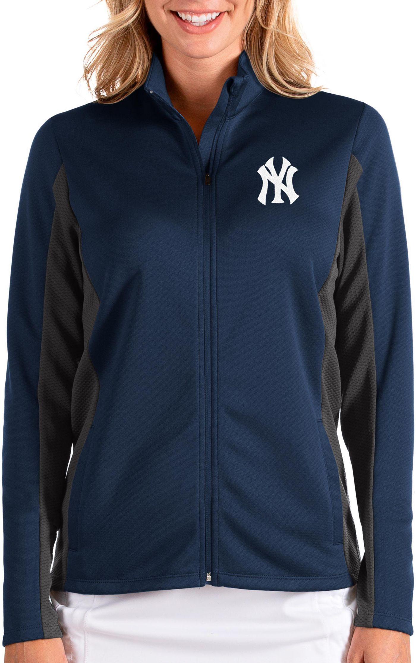 Antigua Women's New York Yankees Navy Passage Full-Zip Jacket