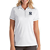 Antigua Women's New York Yankees Salute White Performance Polo