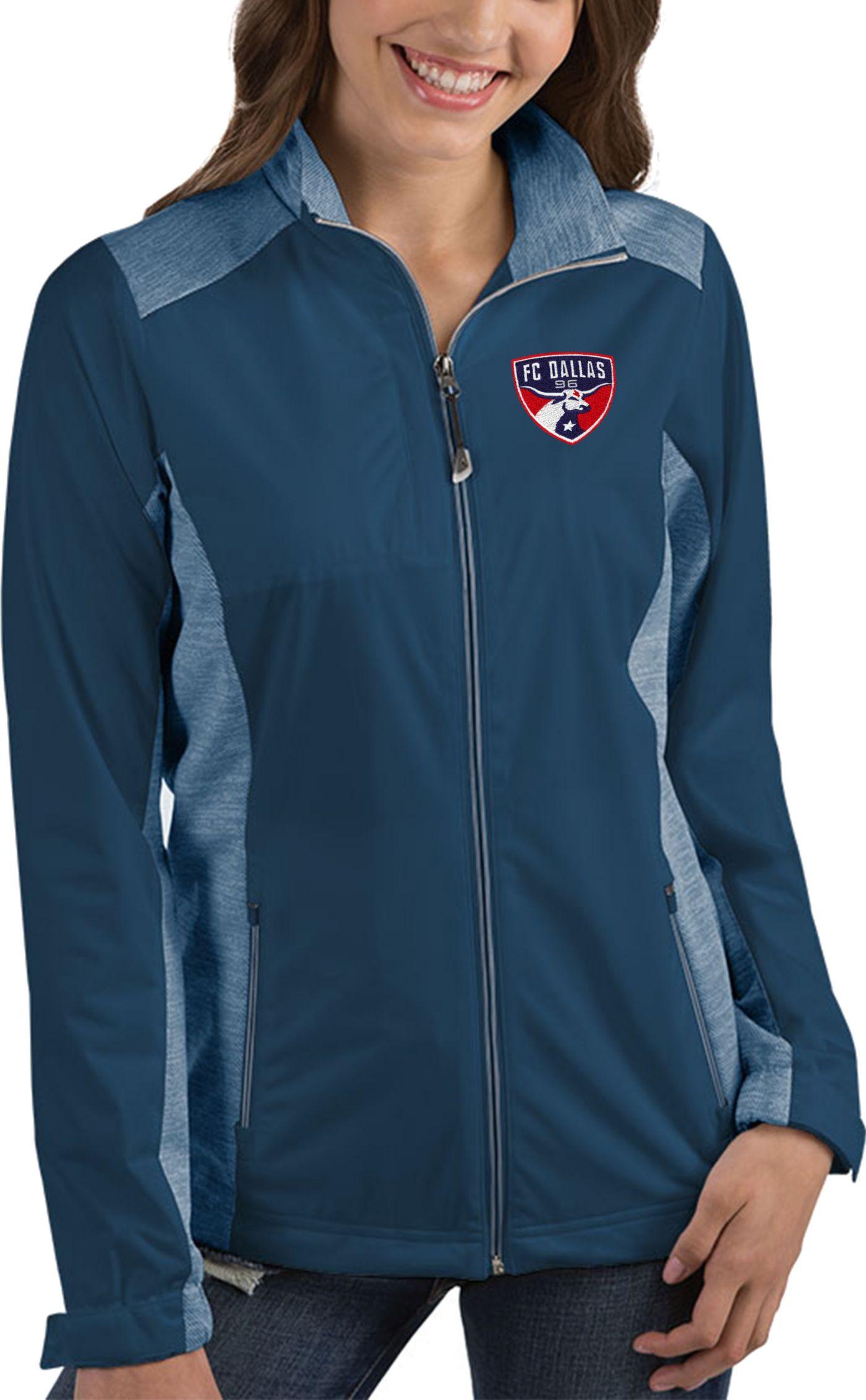 Antigua Women's FC Dallas Revolve Navy Full-Zip Jacket