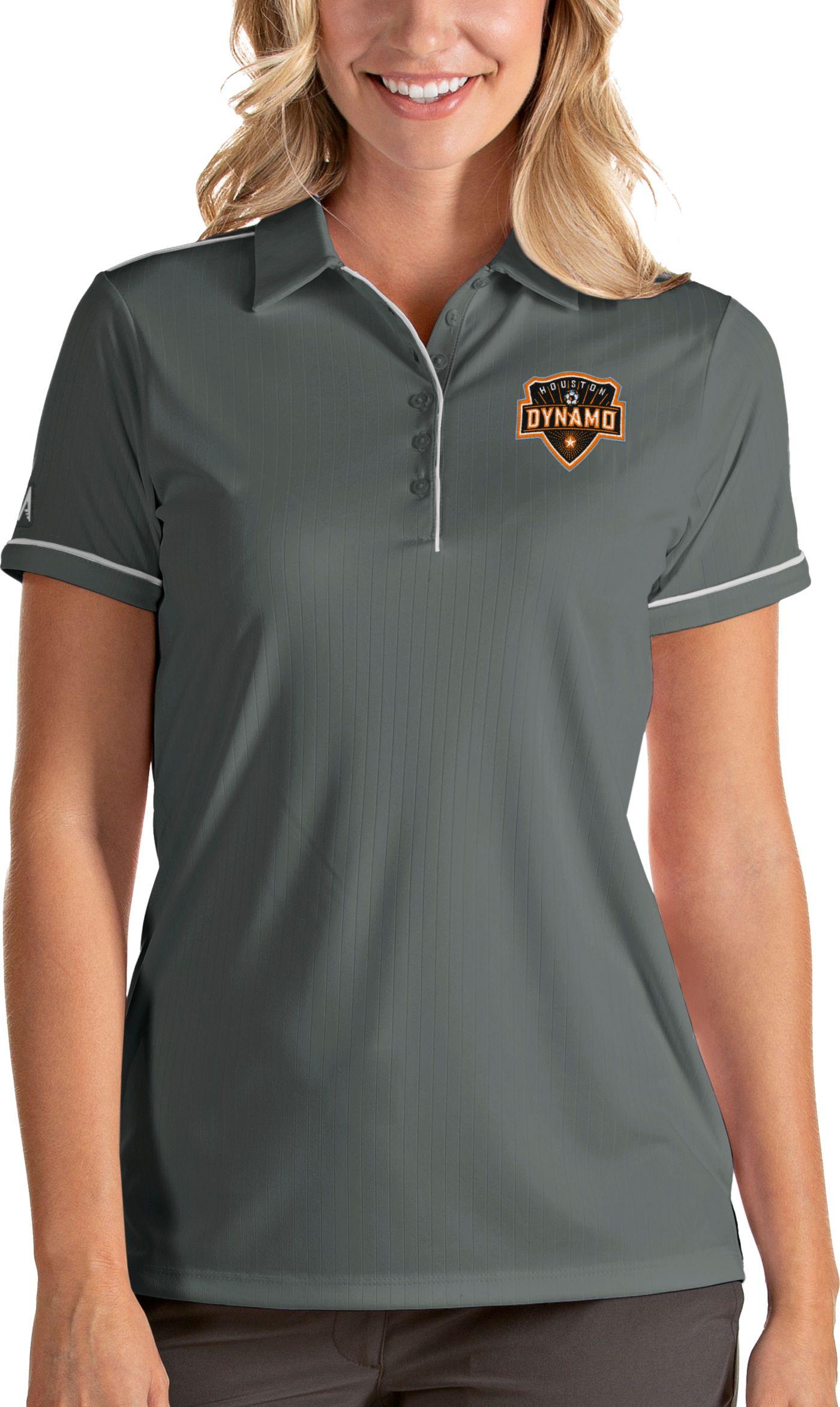 Antigua Women's Houston Dynamo Salute Grey Polo