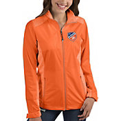 Antigua Women's FC Cincinnati Revolve Orange Full-Zip Jacket