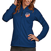 Antigua Women's FC Cincinnati Golf Royal Full-Zip Jacket