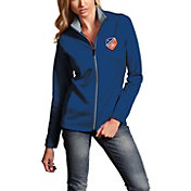 Antigua Women's FC Cincinnati Leader Royal Full-Zip Jacket