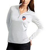 Antigua Women's FC Cincinnati Exceed White Long Sleeve Polo