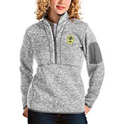 Antigua Women's Nashville SC Fortune Grey Quarter-Zip Pullover