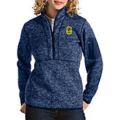 Antigua Women's Nashville SC Fortune Navy Quarter-Zip Pullover