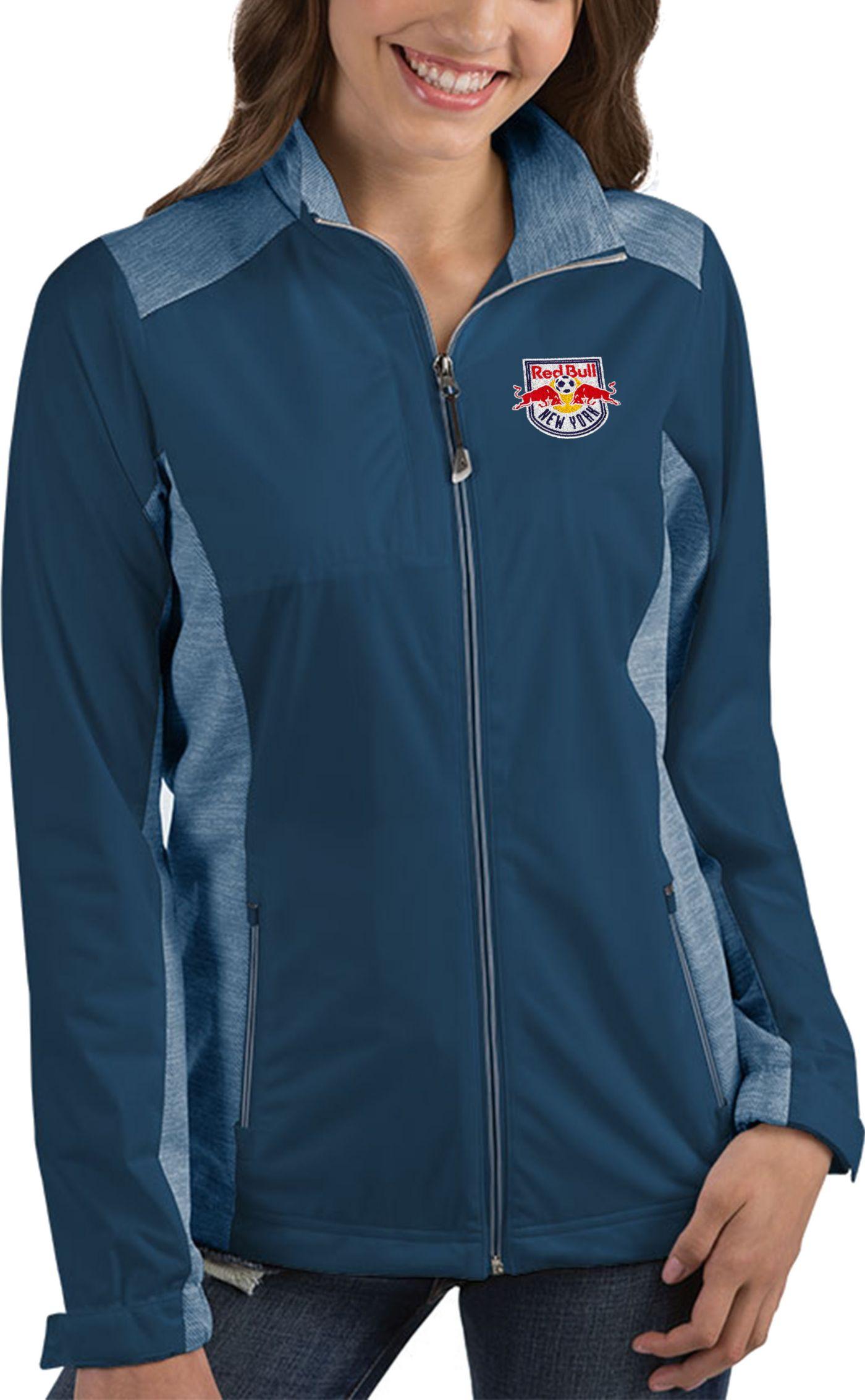 Antigua Women's New York Red Bulls Revolve Navy Full-Zip Jacket