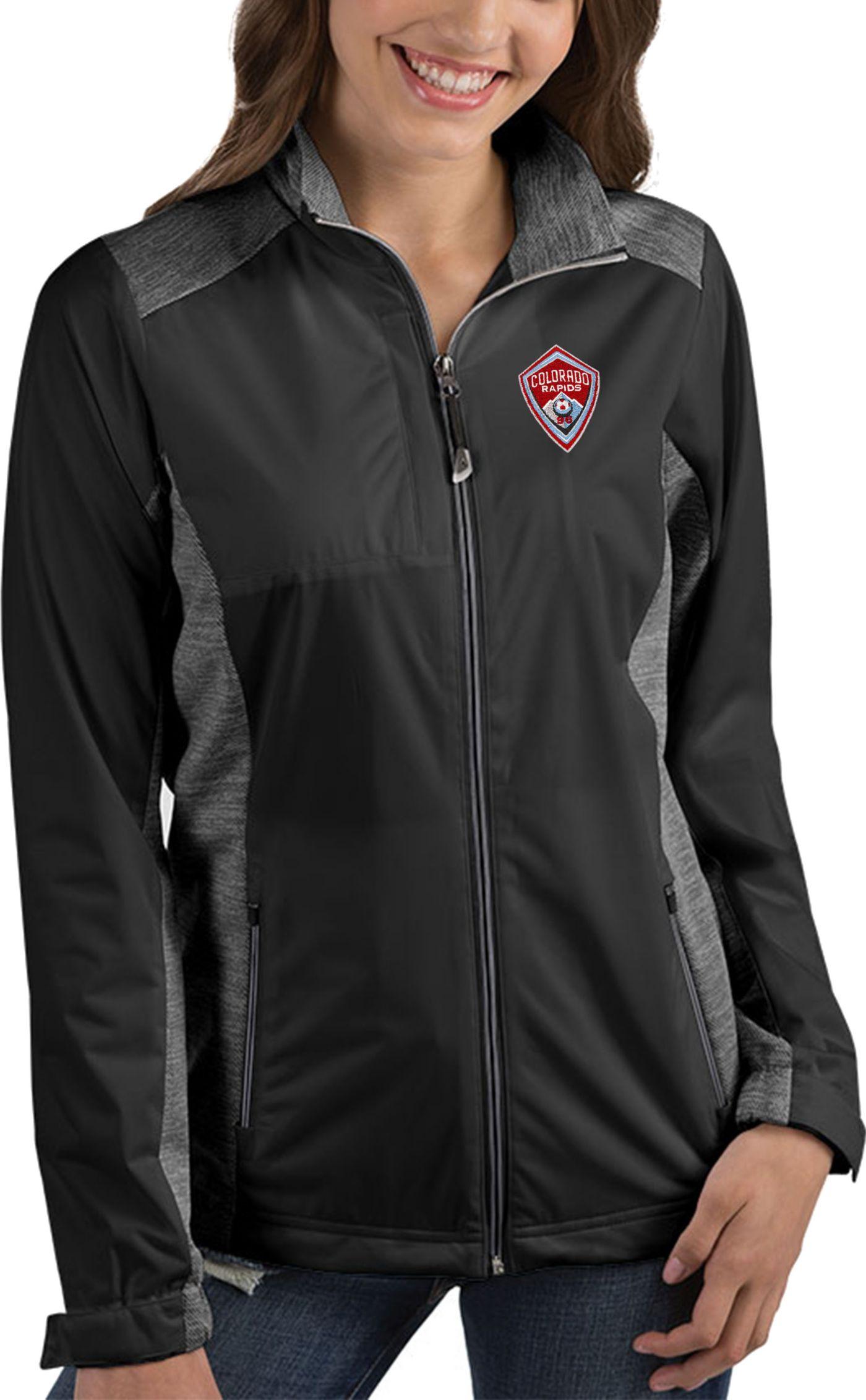 Antigua Women's Colorado Rapids Revolve Black Full-Zip Jacket