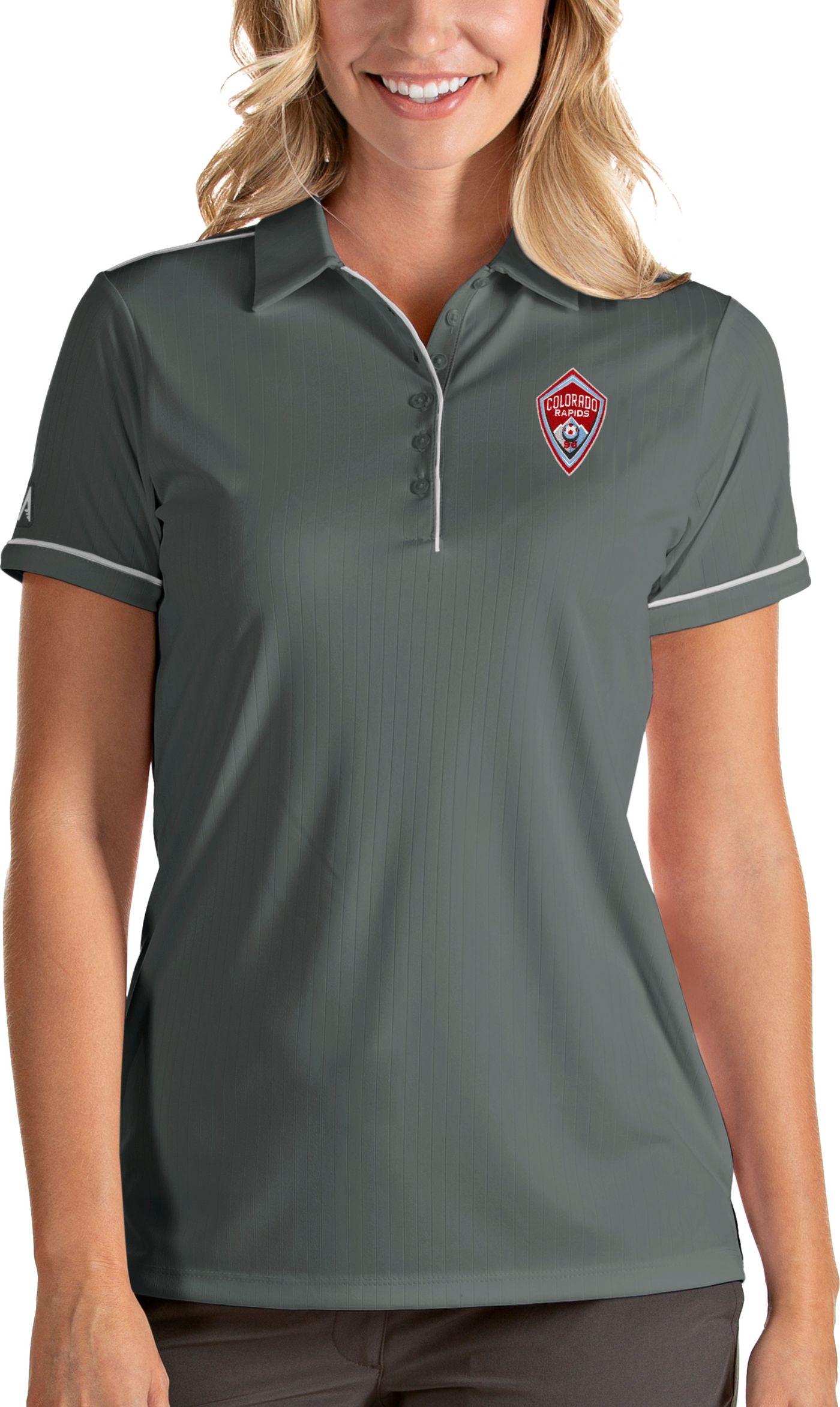 Antigua Women's Colorado Rapids Salute Grey Polo